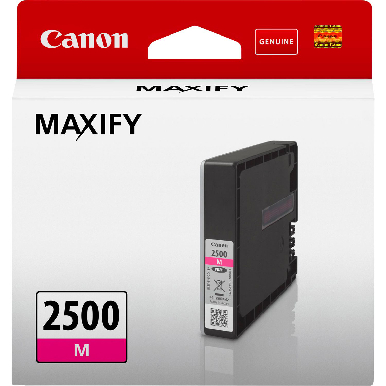 Original Canon PGI-2500M Magenta Ink Cartridge (9302B001)
