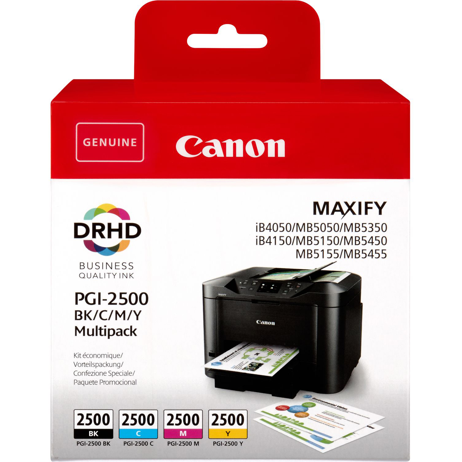 Original Canon PGI-2500 CMYK Multipack Ink Cartridges (9290B004)