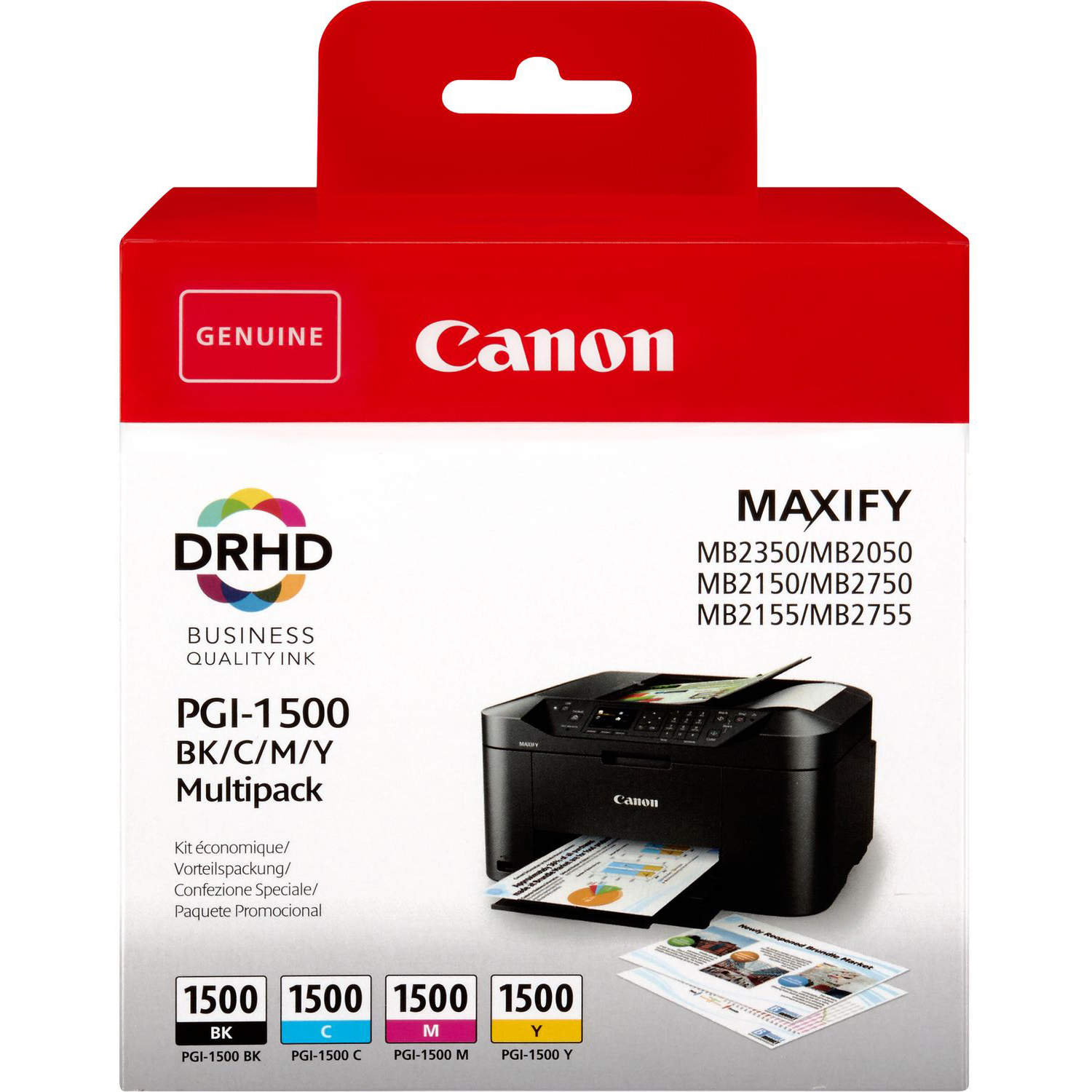 Original Canon PGI-1500 CMYK Multipack Ink Cartridges (9218B005)