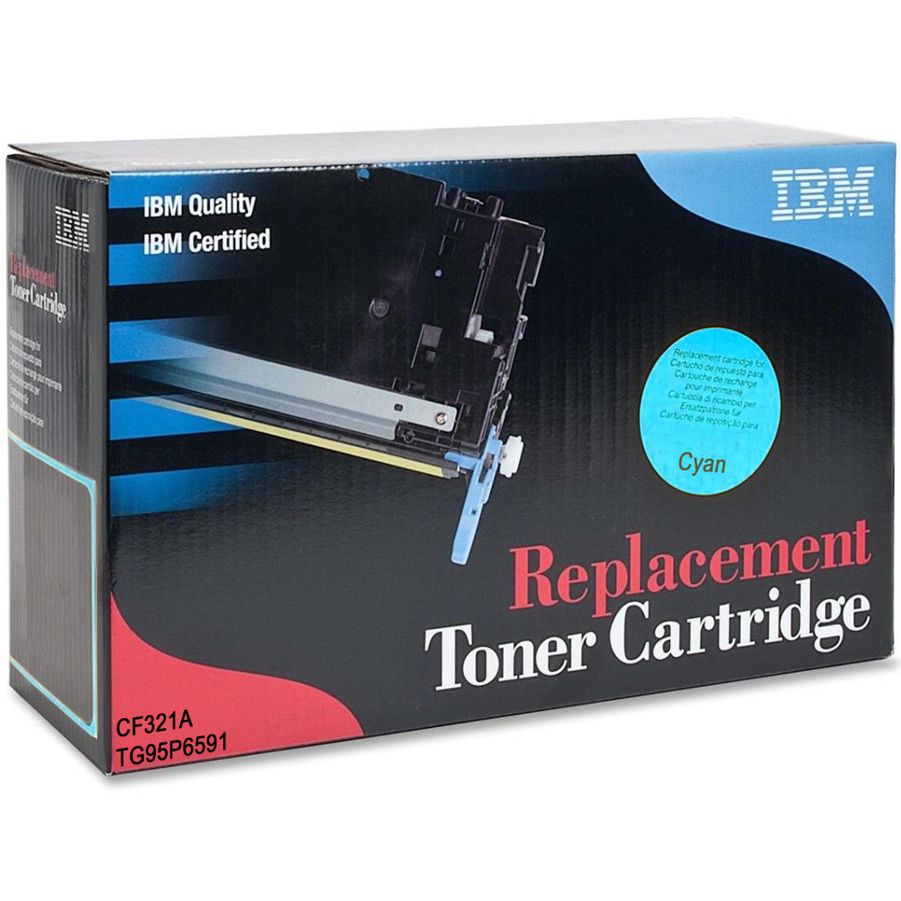 Ultimate HP 653A Cyan Toner Cartridge (CF321A) (IBM TG95P6591)