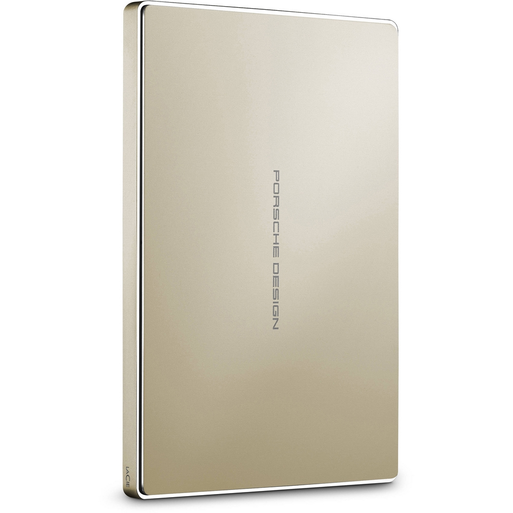 Original LaCie Porsche Design Gold 2TB USB C Mobile Hard Drive (STFD2000403)