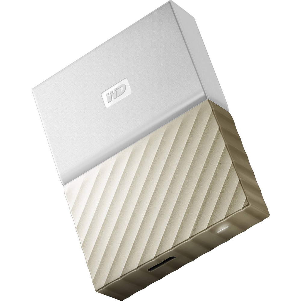 Original Western Digital My Passport Ultra White/Gold 2TB USB 3 External Hard Drive (WDBFKT0020BGD-WESN)