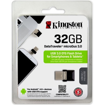 Original Kingston Technology 32GB USB 3.0 Micro Duo Memory Card (DTDUO3/32GB)