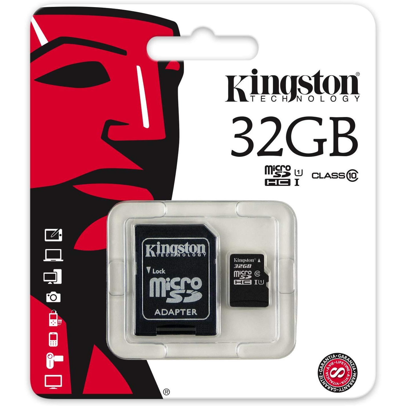 Original Kingston Industrial Temperature Class 10 32GB MicroSDHC Memory Card + SD Adapter (SDCIT/32GB)