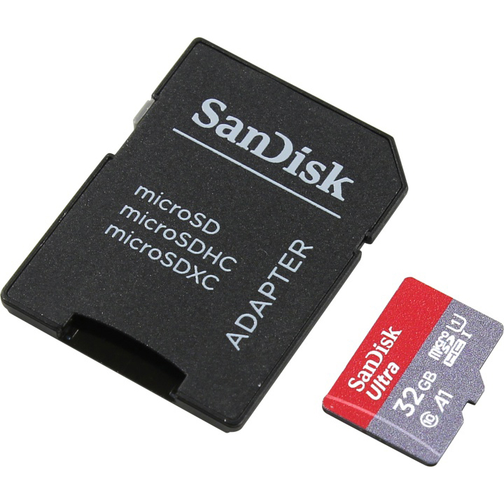 Original SanDisk Ultra Class 10 32GB MicroSDHC Memory Card + SD Adapter (SDSQUAR-032G-GN6IA)