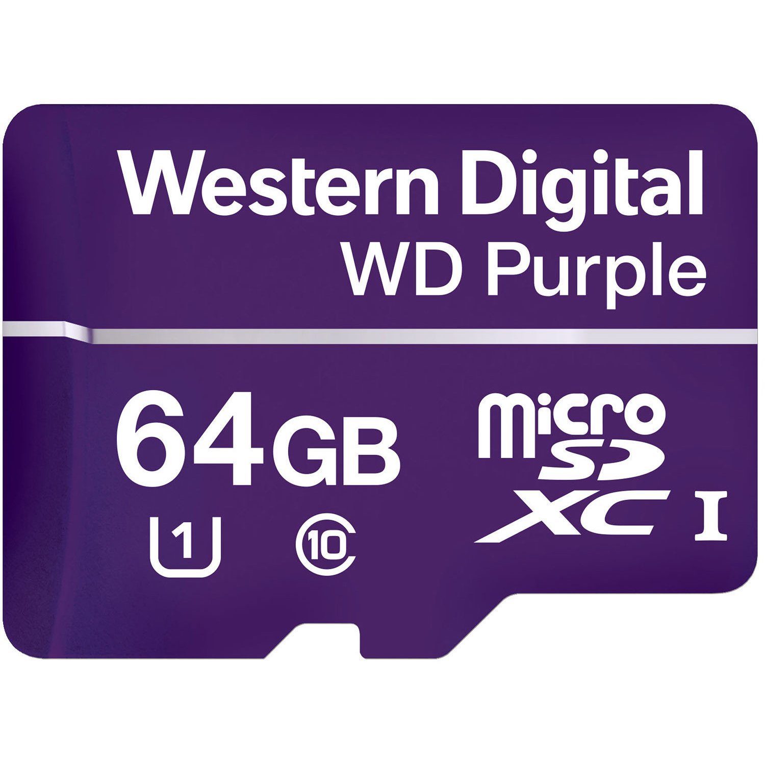 Original Western Digital Purple 64GB MicroSDXC Memory Card (WDD064G1P0A)