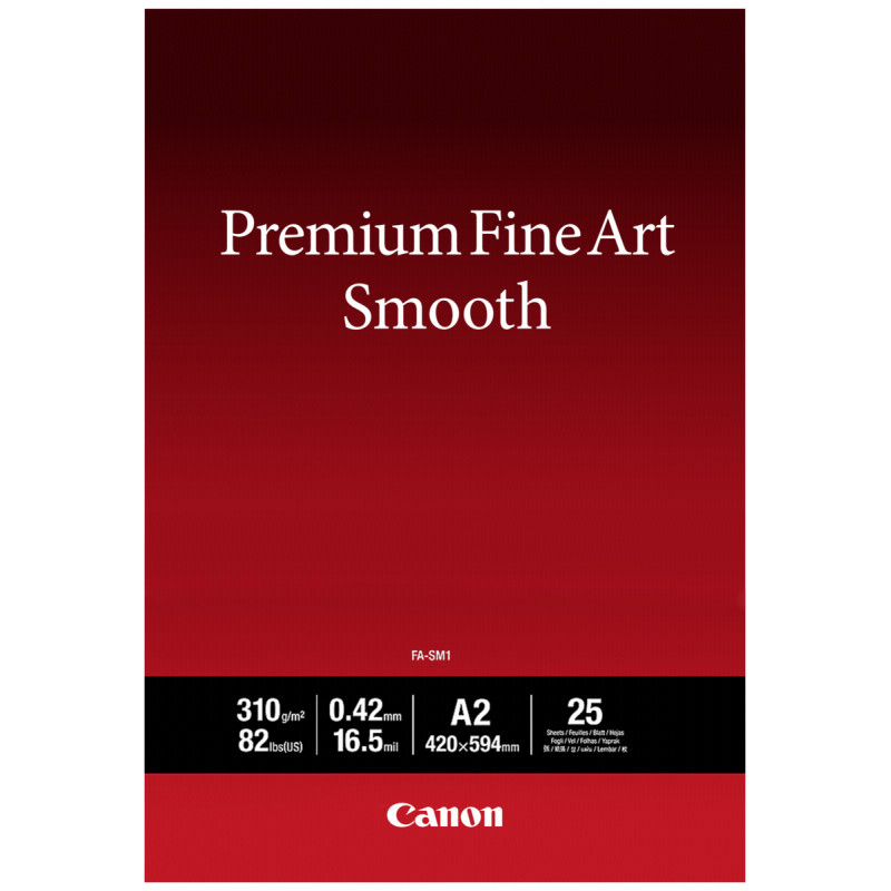Original Canon 310gsm A2 Fine Art Smooth Paper - 25 sheets (1711C006)