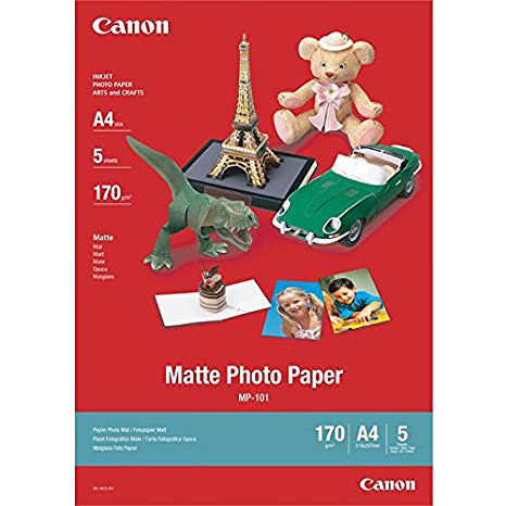 Original Canon MP-101 170gsm A4 Photo Paper - 5 sheets (7981A042)