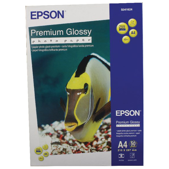 Original Epson 255gsm A4 Premium Glossy Photo Paper - 50 Sheets (C13S041624)