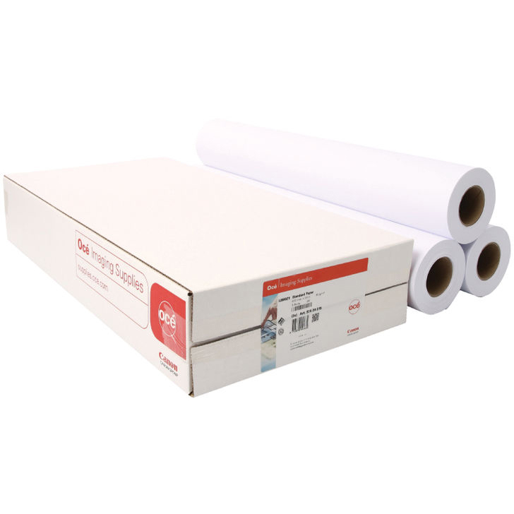Original Canon 90gsm 841mm x 50m White Uncoated Paper 3 Rolls (97003453)