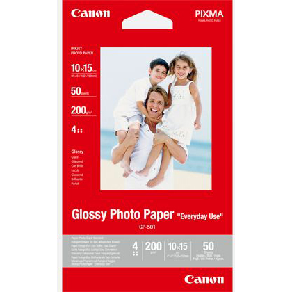 Original Canon GP-501 200gsm 4in x 6in Glossy Photo - 50 sheets (0775B081)