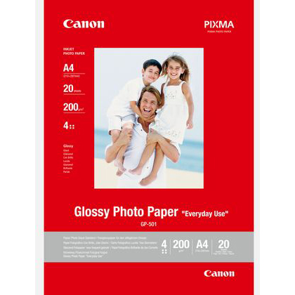 Original Canon 200gsm A4 Glossy Photo Paper - 20 sheets (0775B082)