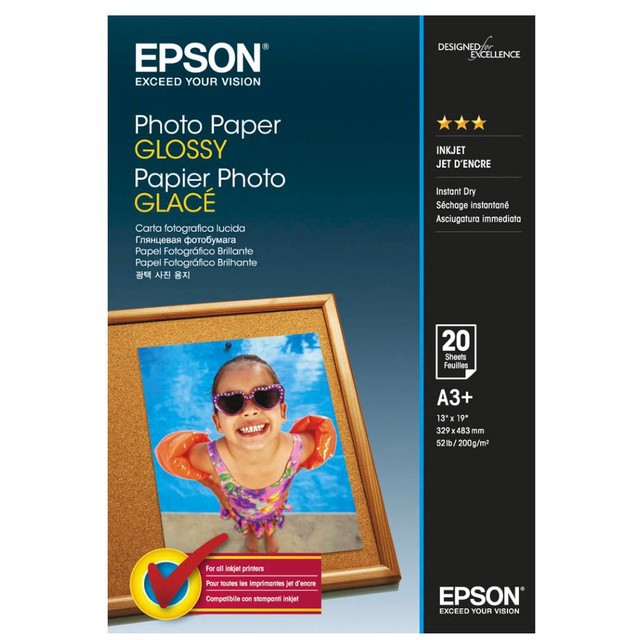 Original Epson S042535 200gsm A3+ Paper Glossy - 20 sheets (C13S042535)