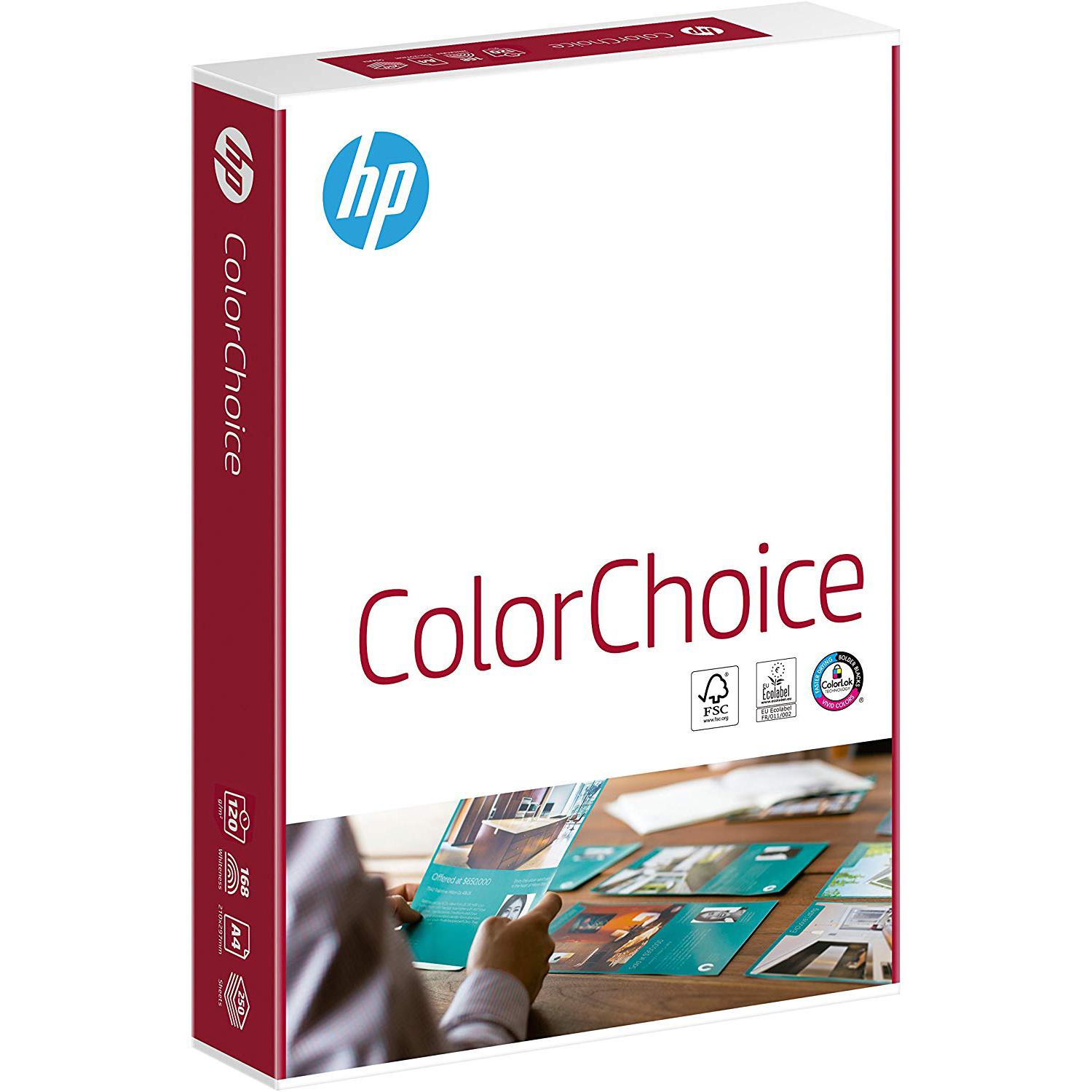 Original HP 120gsm A4 Colour Laser Paper - 250 Sheets (CHP753 94292)