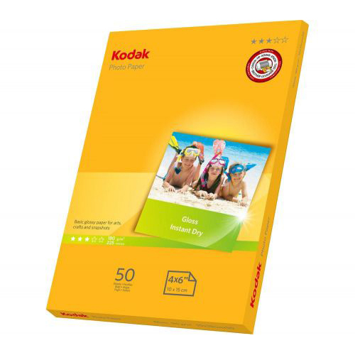 Original Kodak 180gsm A6 Glossy Photo Paper - 50 Sheets (740-506)
