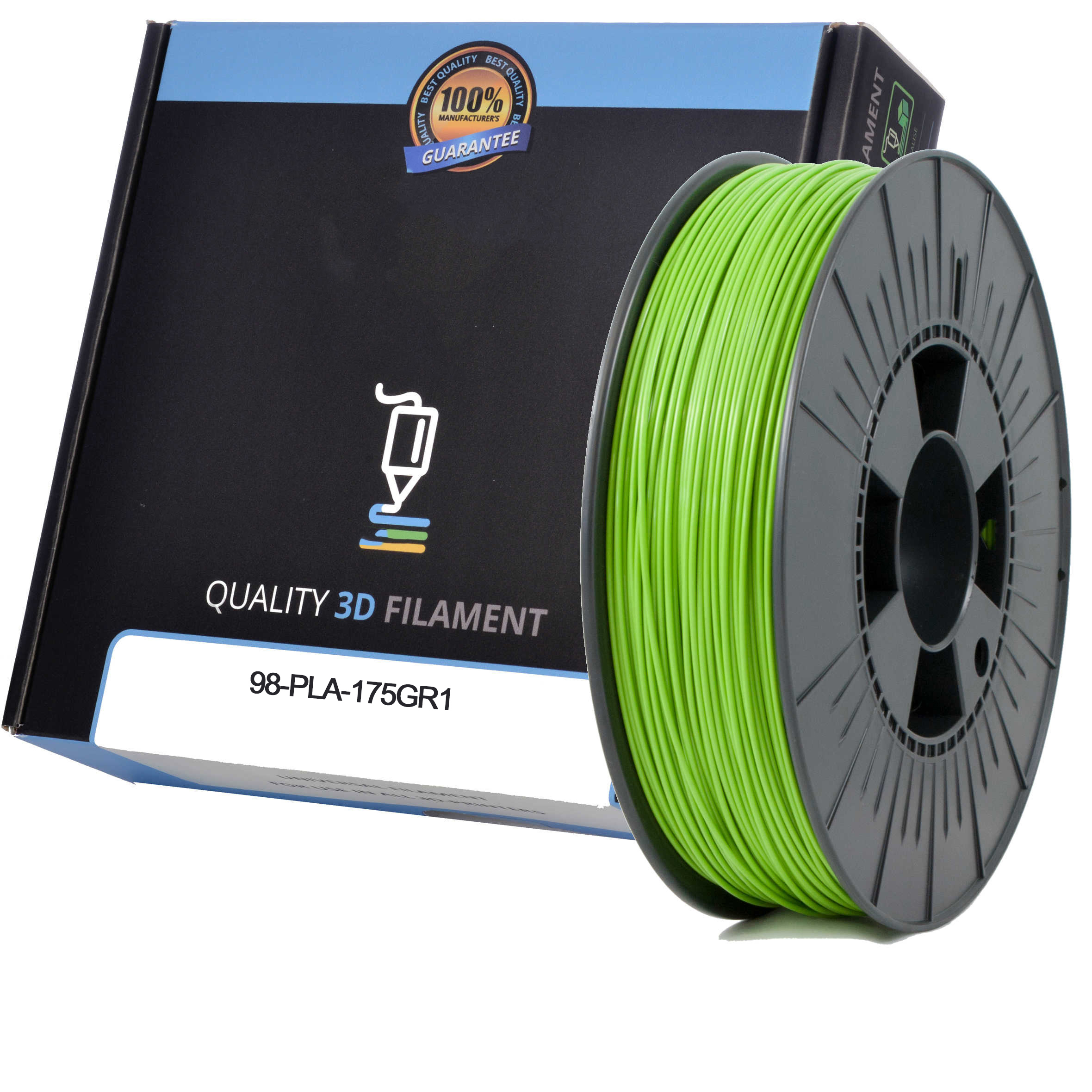 Premium Compatible PLA 1.75mm Apple Green 0.5kg 3D Filament (98-PLA-175GR1)