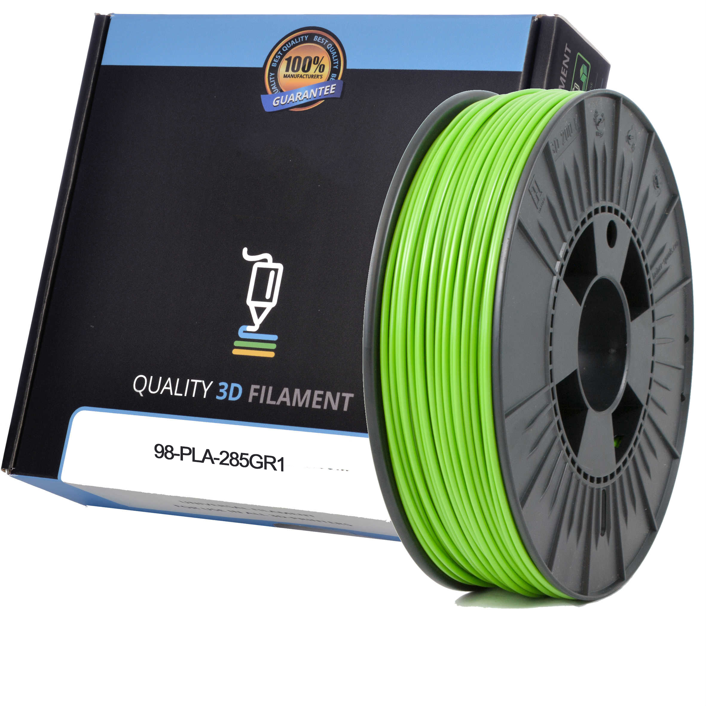 Premium Compatible PLA 2.85mm Apple Green 0.5kg 3D Filament (98-PLA-285GR1)