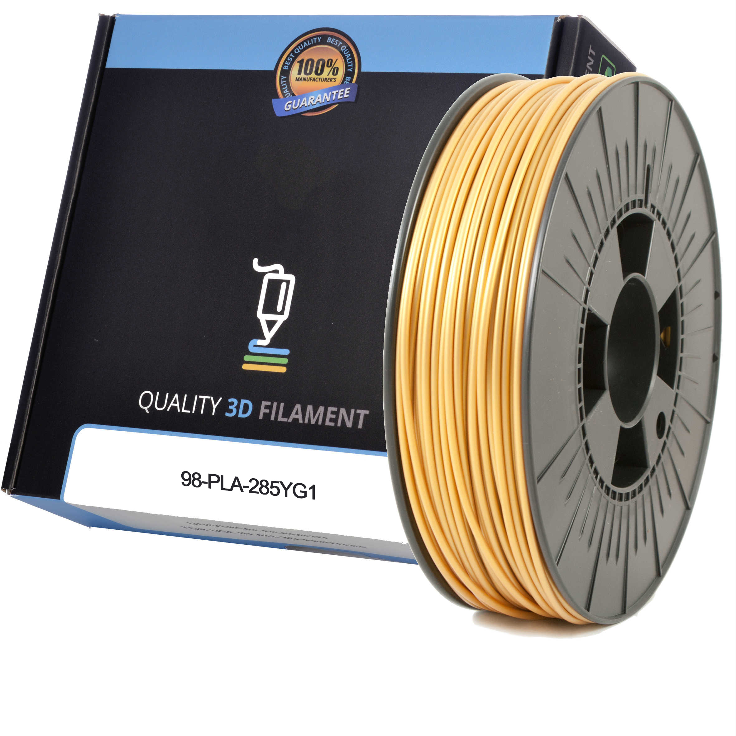 Premium Compatible PLA 2.85mm Yellow Gold 0.5kg 3D Filament (98-PLA-285YG1)