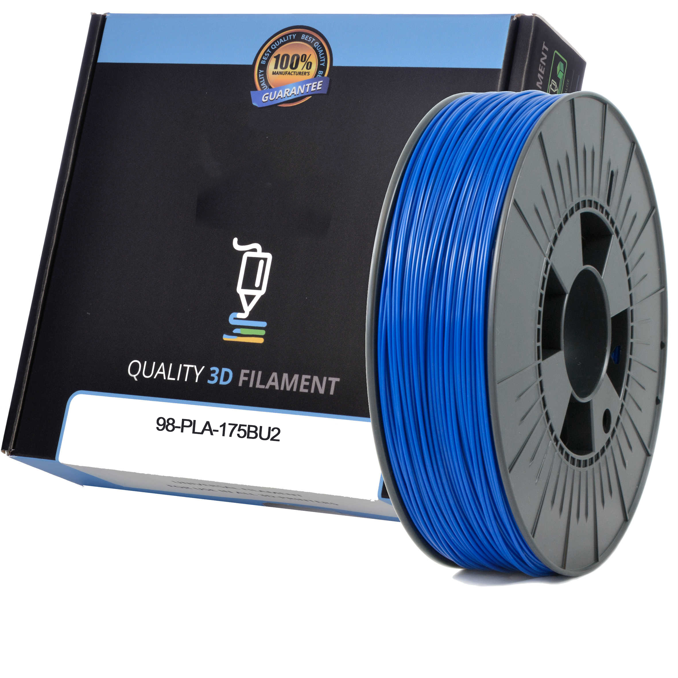 Premium Compatible PLA 1.75mm Dark Blue 0.5kg 3D Filament (98-PLA-175BU2)