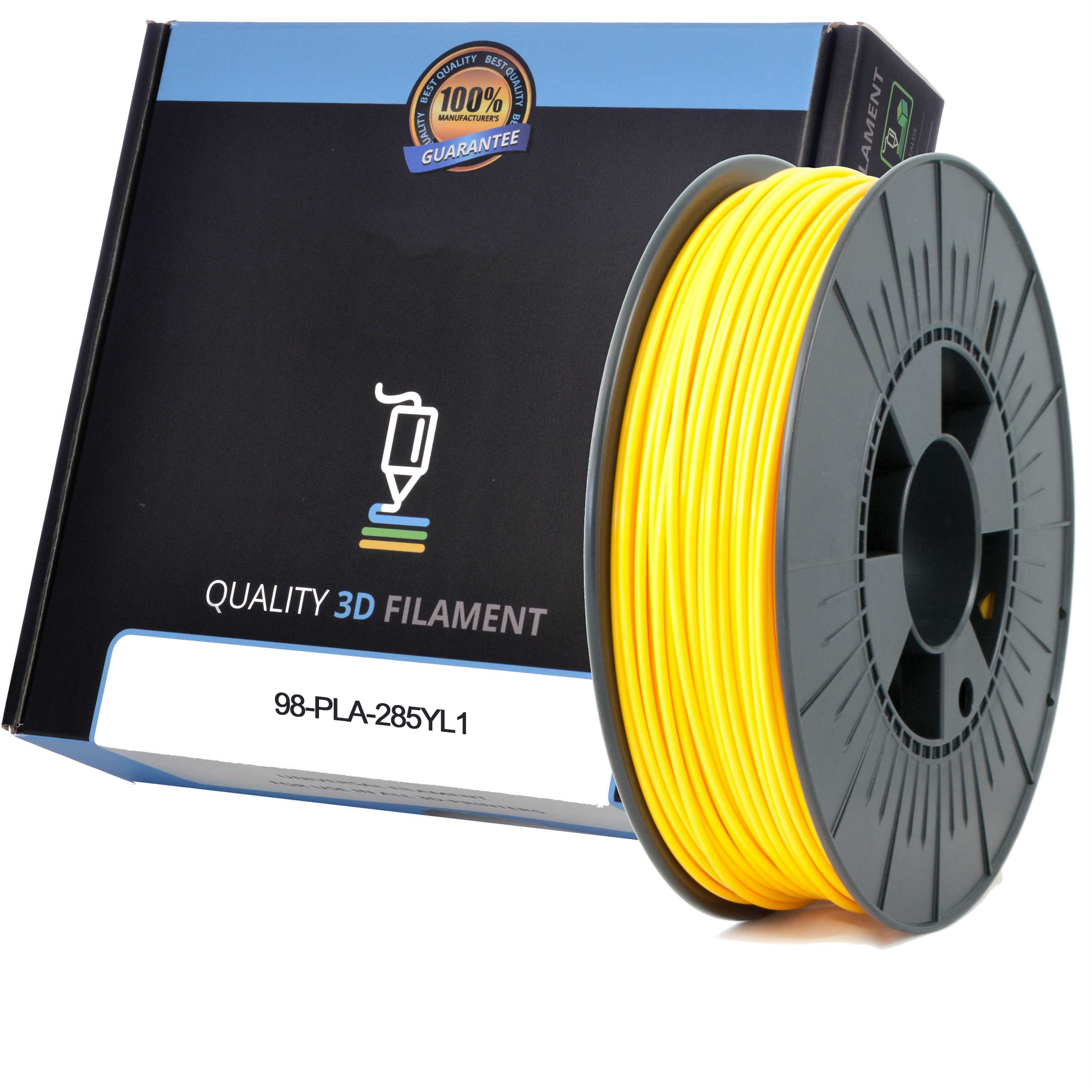 Premium Compatible PLA 2.85mm Yellow 0.5kg 3D Filament (98-PLA-285YL1)