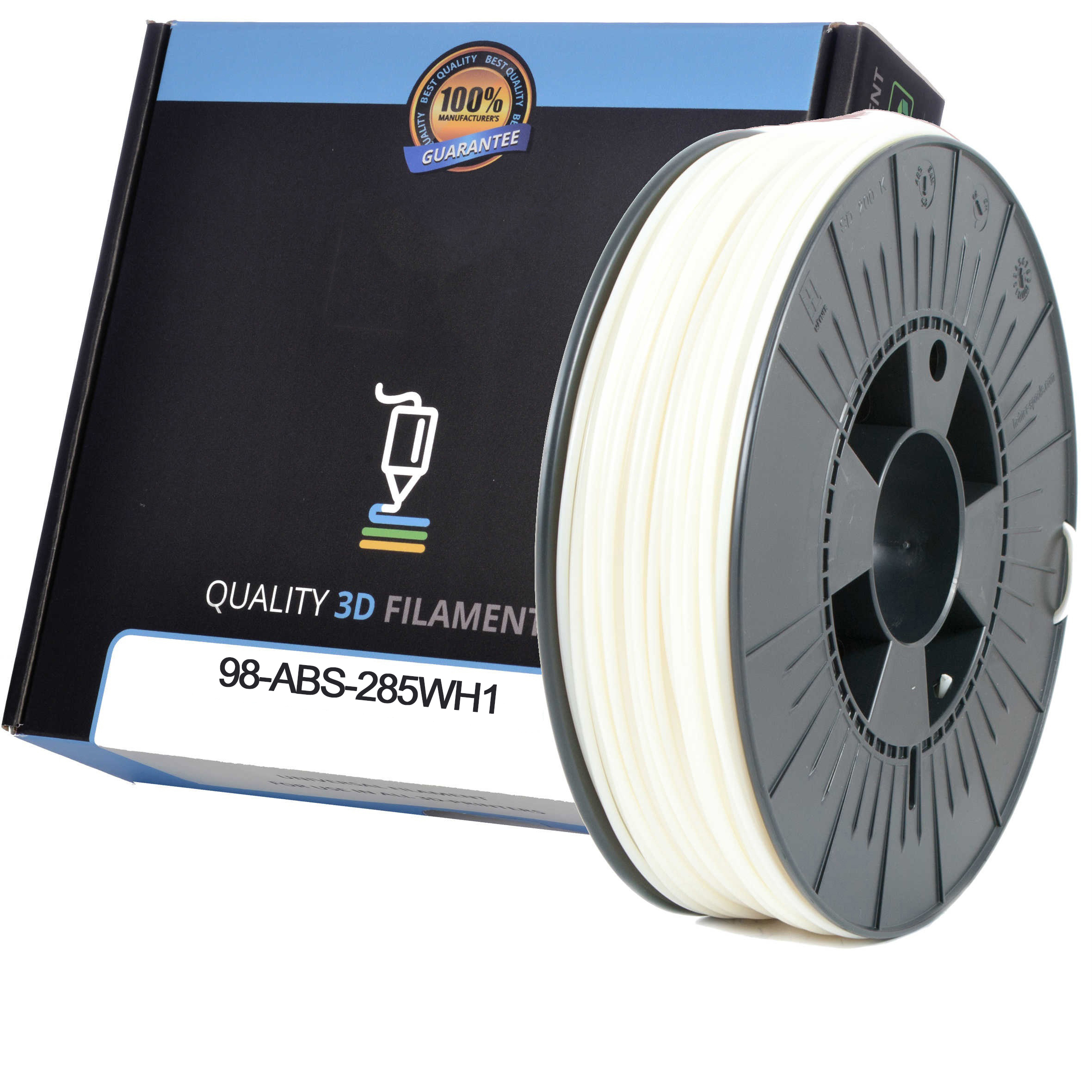 Premium Compatible ABS 1.75mm White 0.5kg 3D Filament (98-ABS-175WH1)
