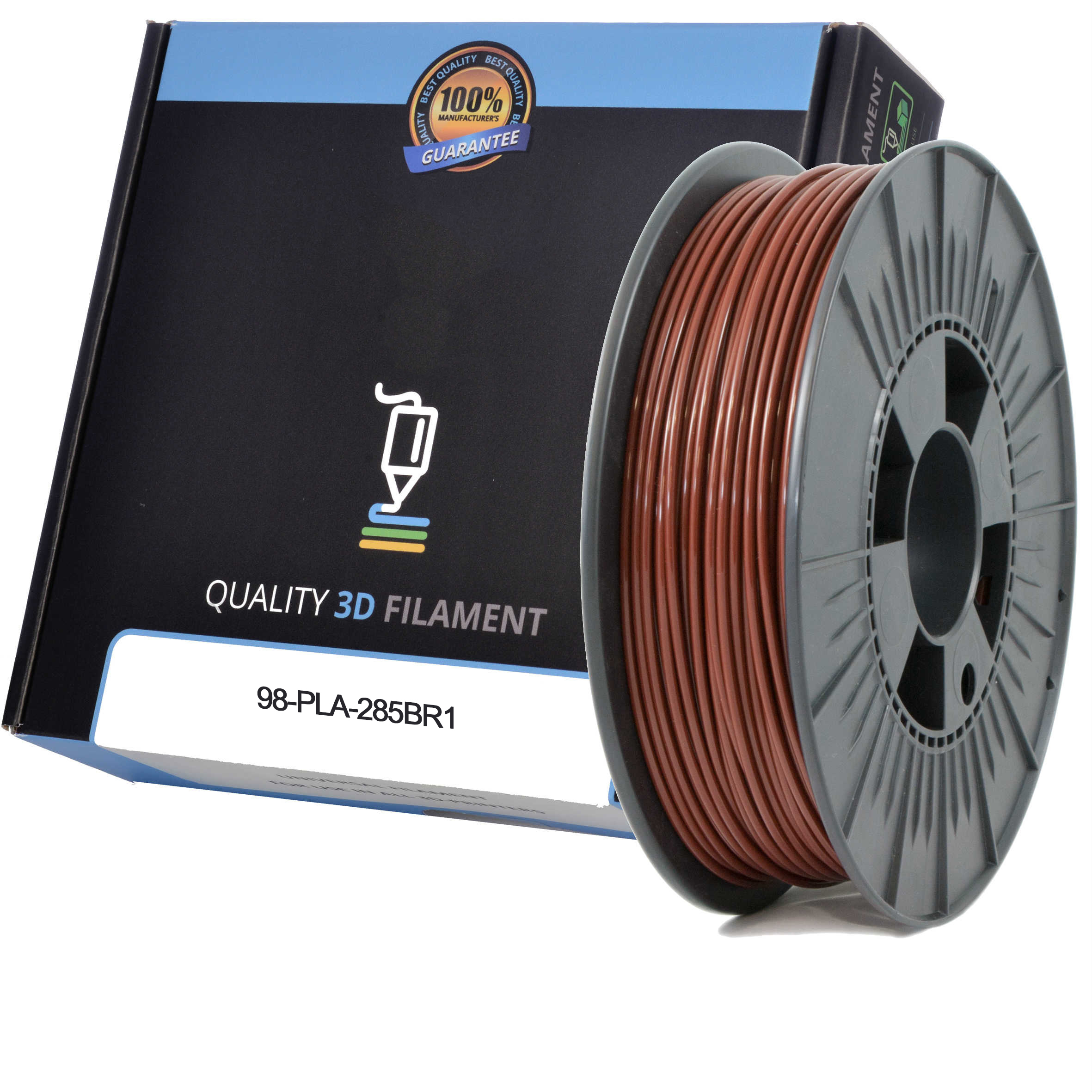 Premium Compatible PLA 2.85mm Brown 0.5kg 3D Filament (98-PLA-285BR1)