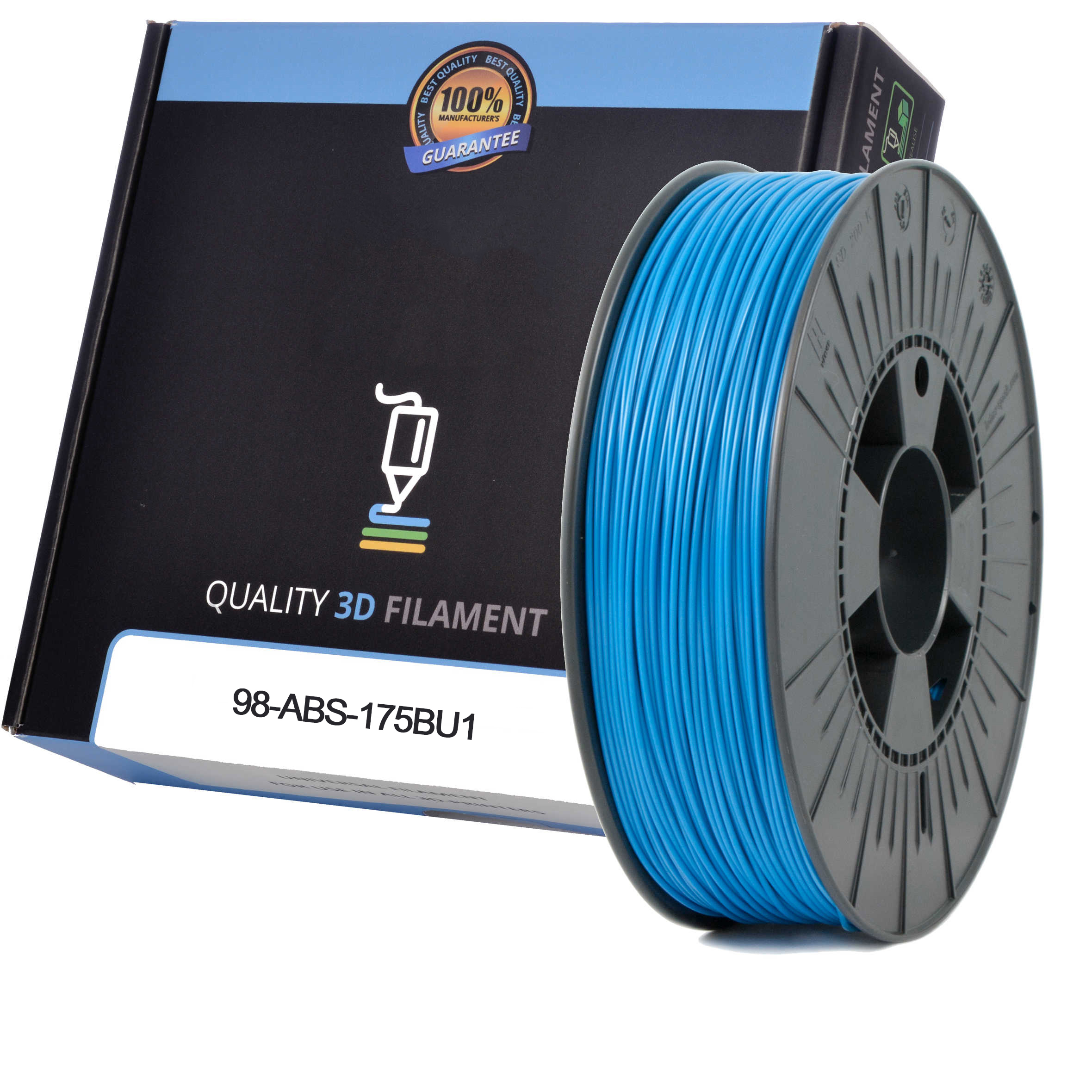 Premium Compatible ABS 1.75mm Blue 0.5kg 3D Filament (98-ABS-175BU1)