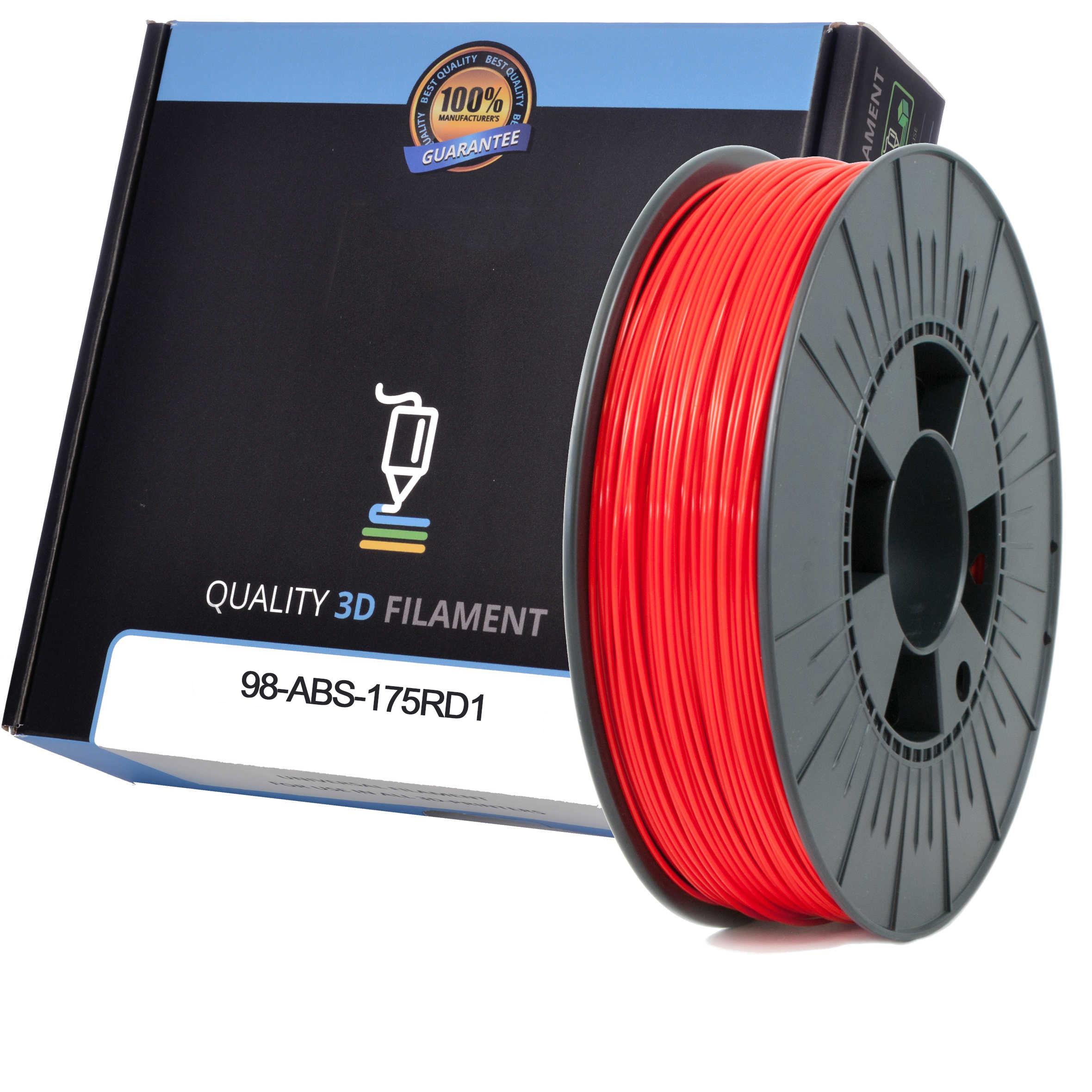 Premium Compatible ABS 1.75mm Red 0.5kg 3D Filament (98-ABS-175RD1)