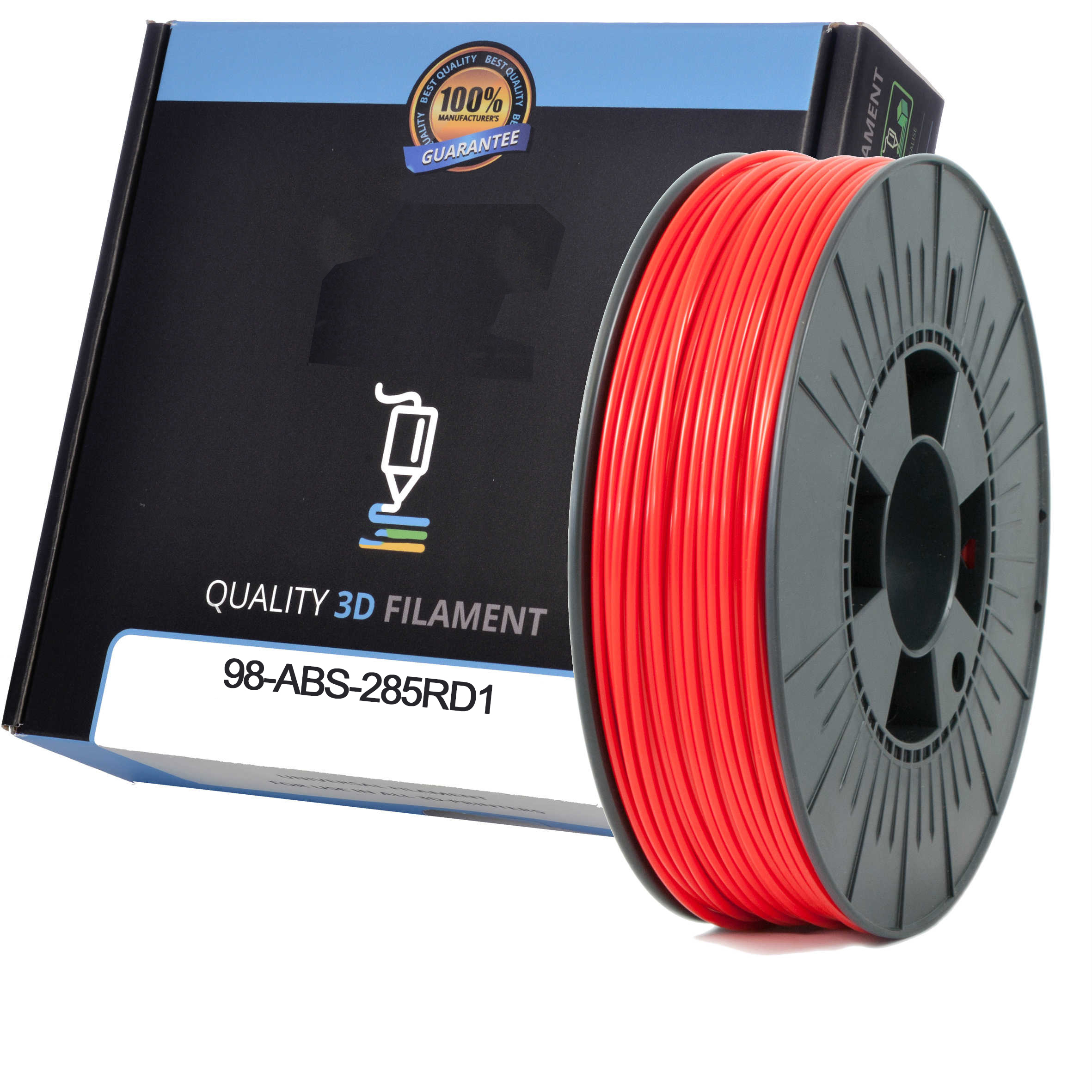 Premium Compatible ABS 2.85mm Red 0.5kg 3D Filament (98-ABS-285RD1)