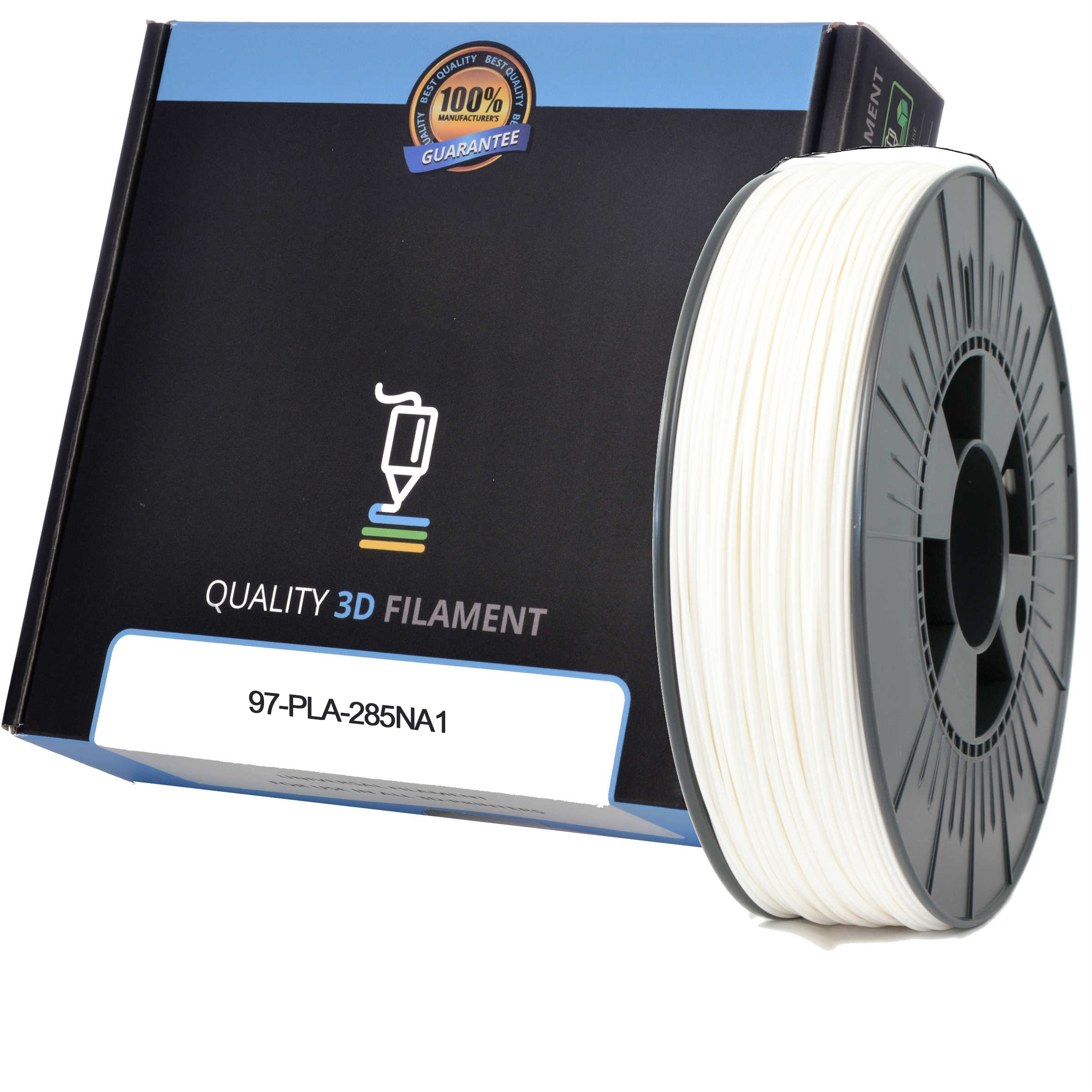 Premium Compatible PLA 2.85mm Natural 1kg 3D Filament (97-PLA-285NA1)