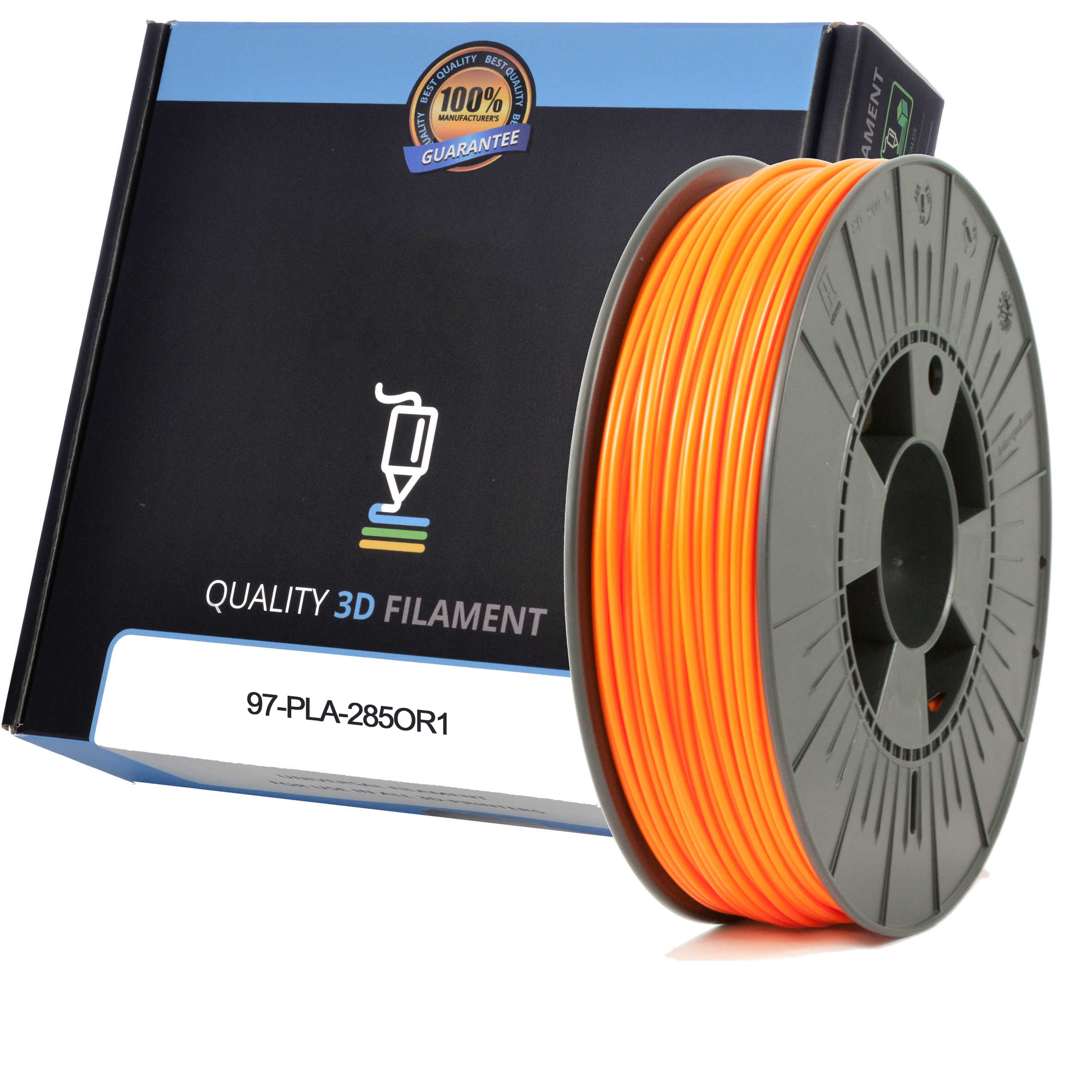 Premium Compatible PLA 2.85mm Orange 1kg 3D Filament (97-PLA-285OR1)