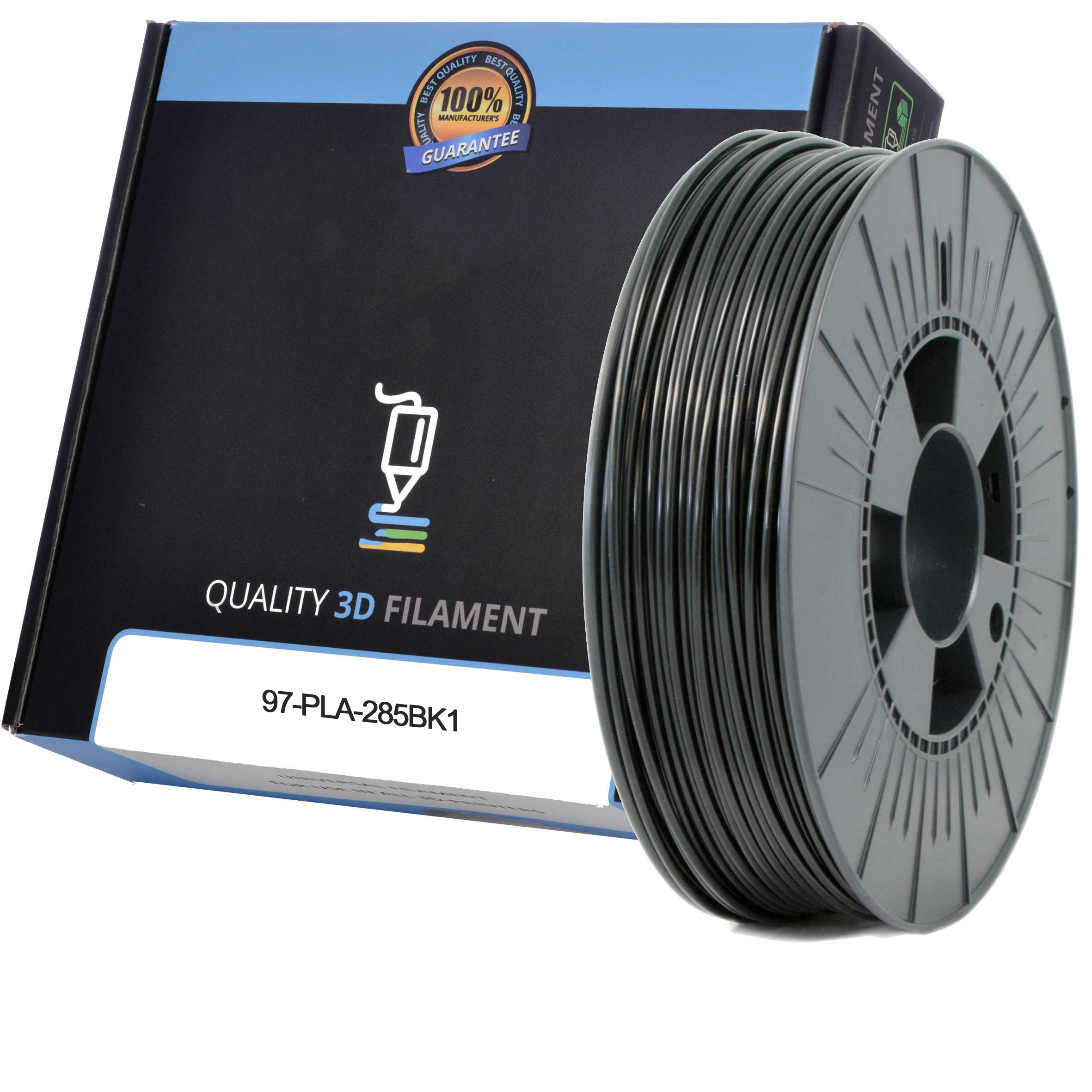 Premium Compatible PLA 2.85mm Black 1kg 3D Filament (97-PLA-285BK1)