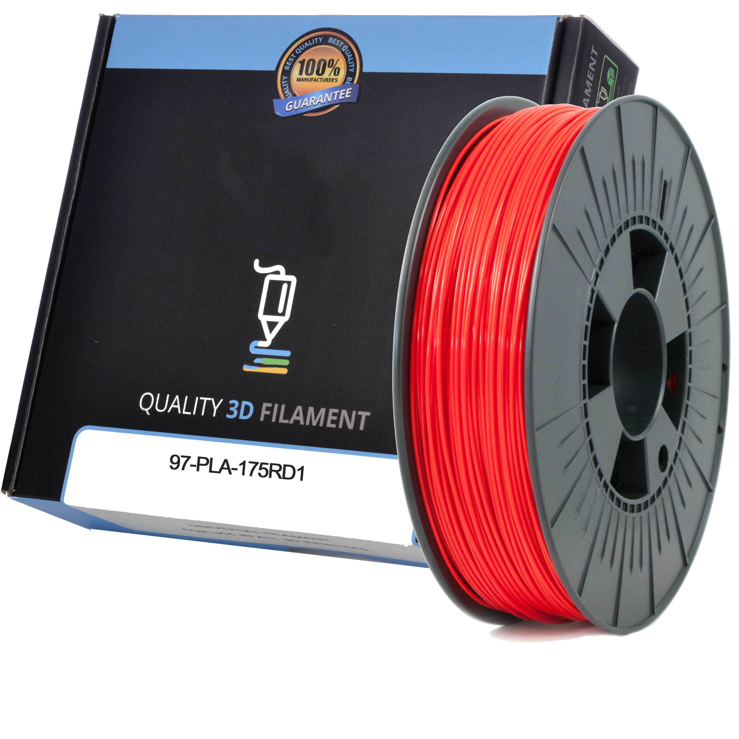 Premium Compatible PLA 1.75mm Red 1kg 3D Filament (97-PLA-175RD1)