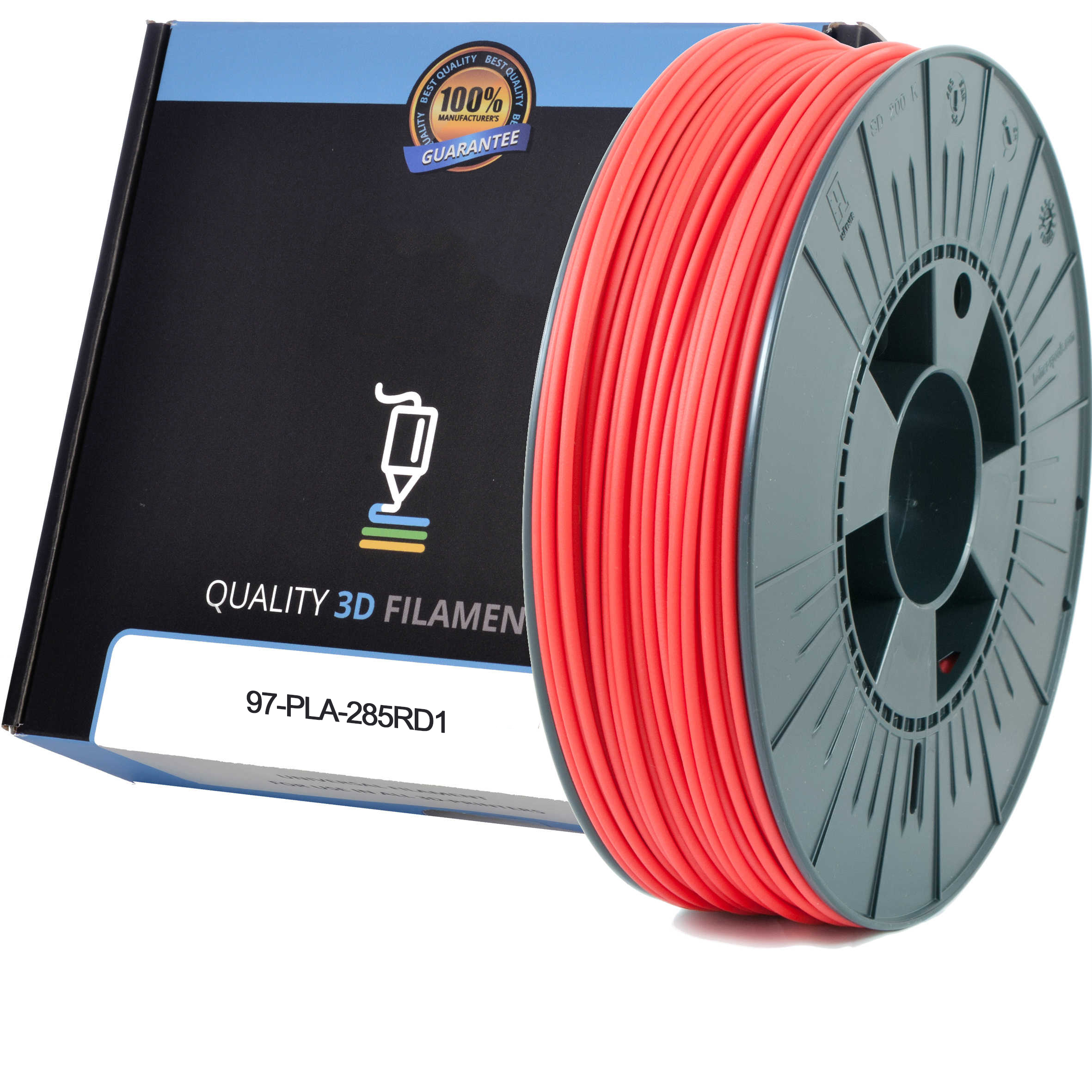 Premium Compatible PLA 2.85mm Red 1kg 3D Filament (97-PLA-285RD1)