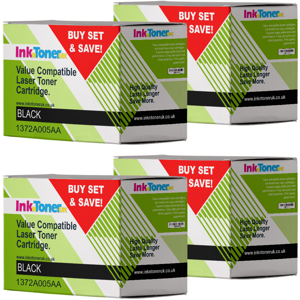 Value Compatible Canon NPG-1 Black 4 Pack Toner Cartridges (1372A005AA)