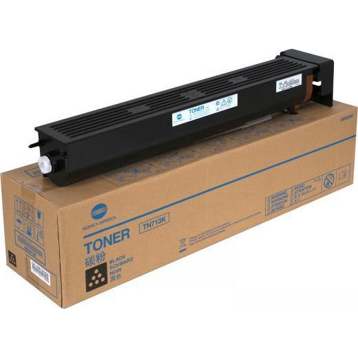 Original Konica Minolta TN-713K Black Toner Cartridge (A9K8150)