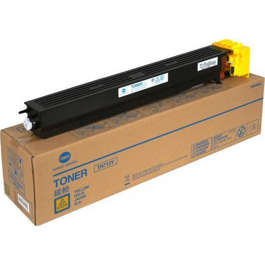 Original Konica Minolta TN-713Y Yellow Toner Cartridge (A9K8250)