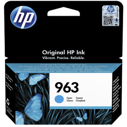 Original HP 963 Cyan Ink Cartridge (3JA23AE)