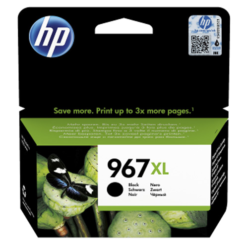 Original HP 967XL Black Extra High Capacity Ink Cartridge (3JA31AE)