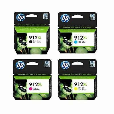 Original HP 912XL CMYK Pack High Capacity Ink Cartridges (3YP34AE)