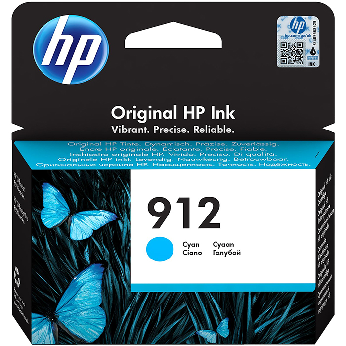 Original HP 912 Cyan Ink Cartridge (3YL77AE)