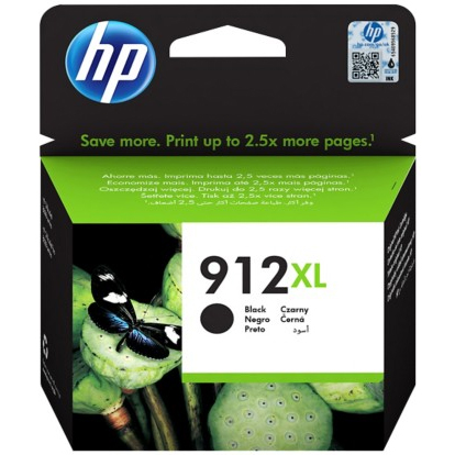 Original HP 912XL Black High Capacity Ink Cartridge (3YL84AE)
