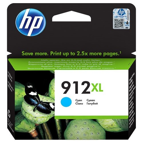 Original HP 912XL Cyan High Capacity Ink Cartridge (3YL81AE)