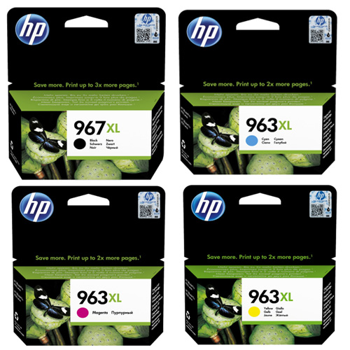 Original HP 967XL / 963XL CMYK Multipack Extra High Capacity Ink Cartridges (3JA31AE/ 3JA27AE/ 3JA28AE/ 3JA29AE)