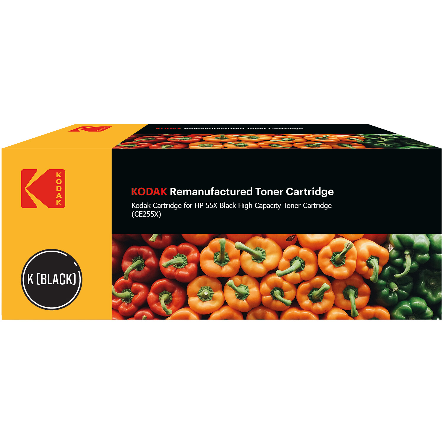 Ultimate HP 55X Black High Capacity Toner Cartridge (CE255X) (Kodak KODCE255X)