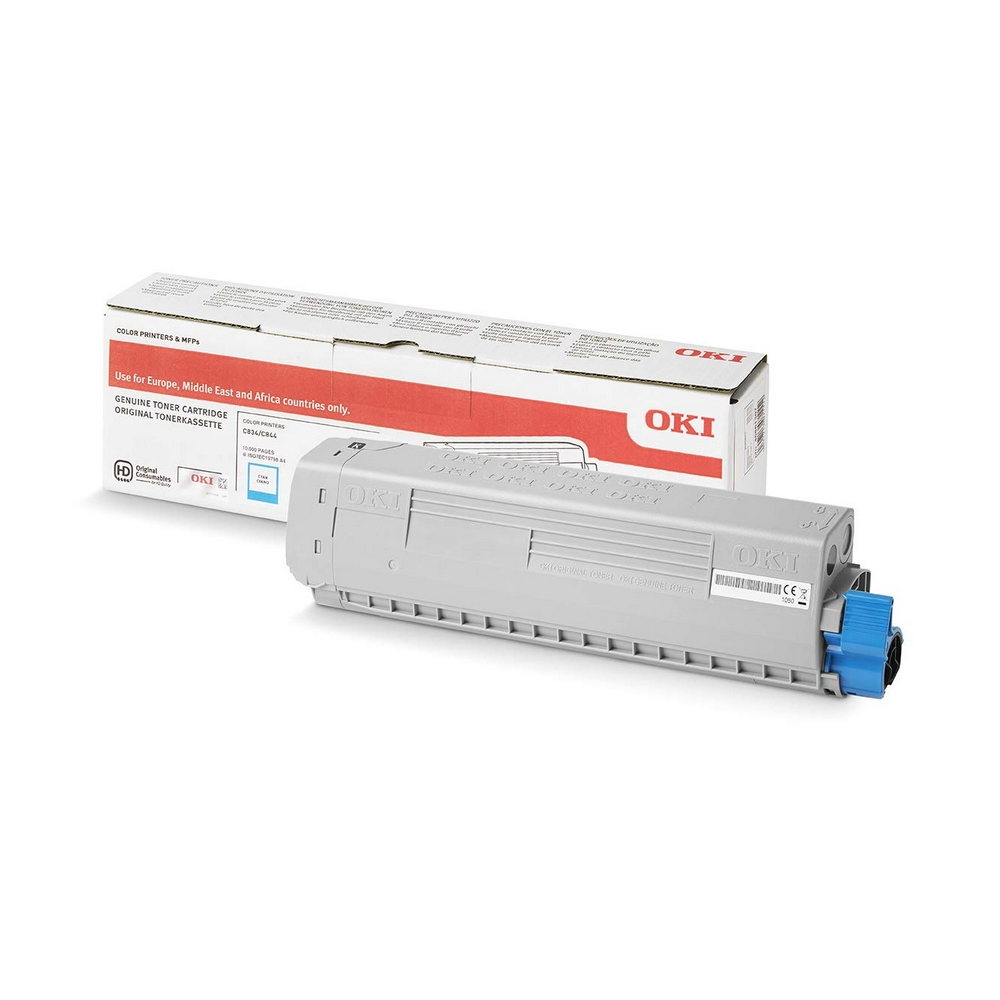 Original Oki 46861307 Cyan High Capacity Toner Cartridge (46861307)
