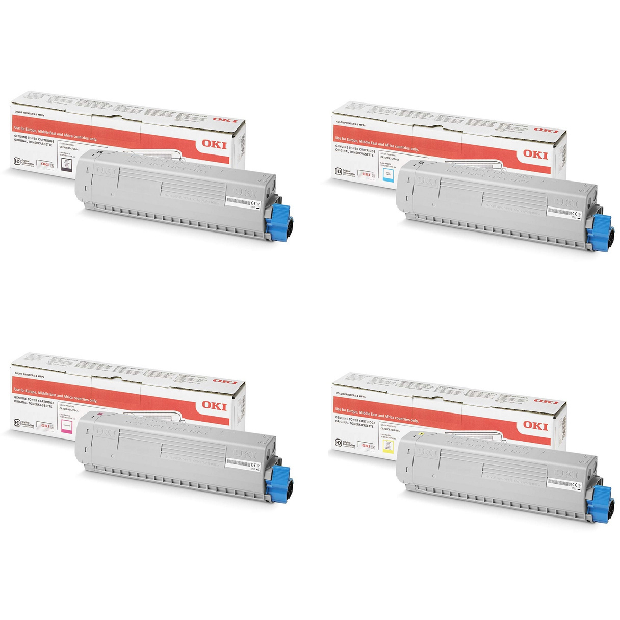 Original Oki 4709570 CMYK Multipack Toner Cartridges (47095704/ 47095703/ 47095702/ 47095701)