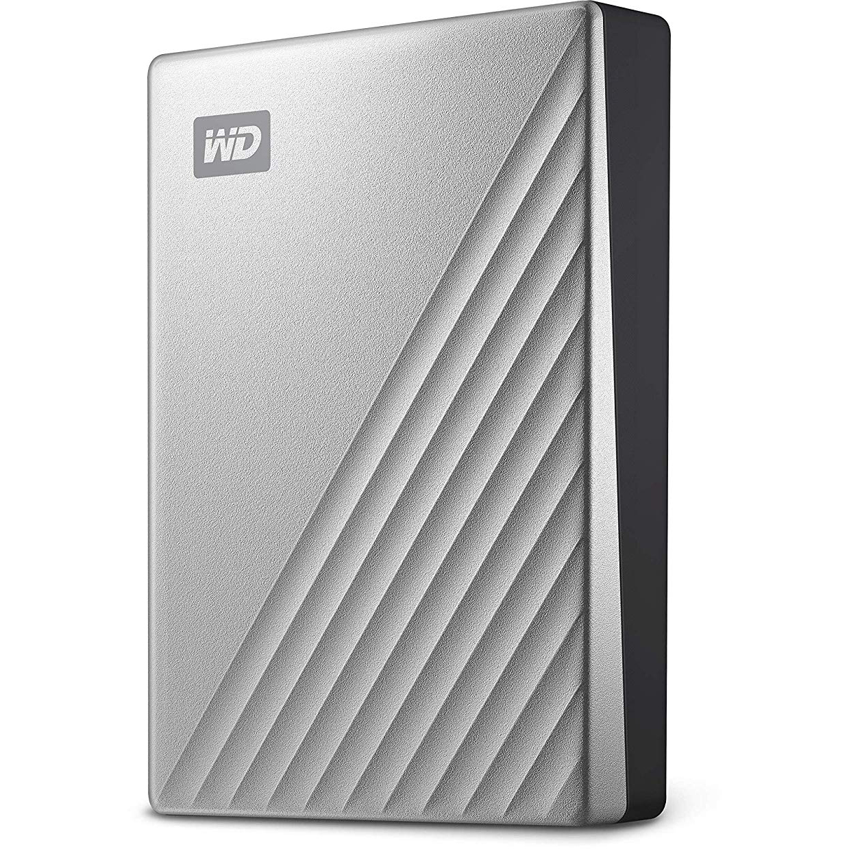 Original Western Digital My Passport Ultra 4TB Silver USB 3.0 External Hard Drive (WDBFTM0040BSL-WESN)