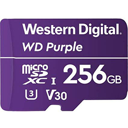 Original Western Digital Class 10 256GB Purple microSDXC Memory Card (WDD256G1P0A)