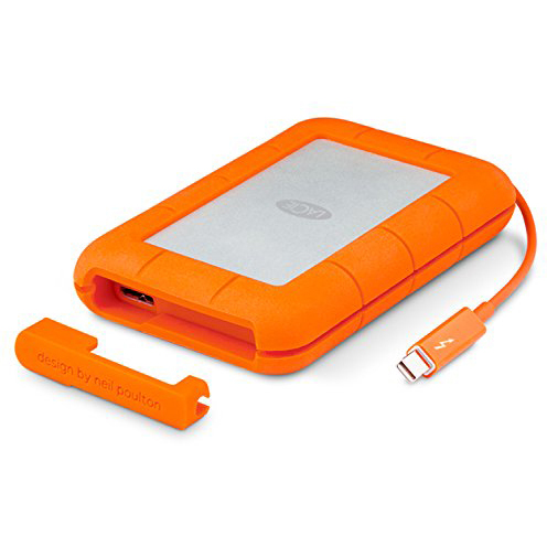 Original LaCie 500GB Orange Rugged Thunderbolt/USB 3.0 External Solid State Drive (STEZ500400)